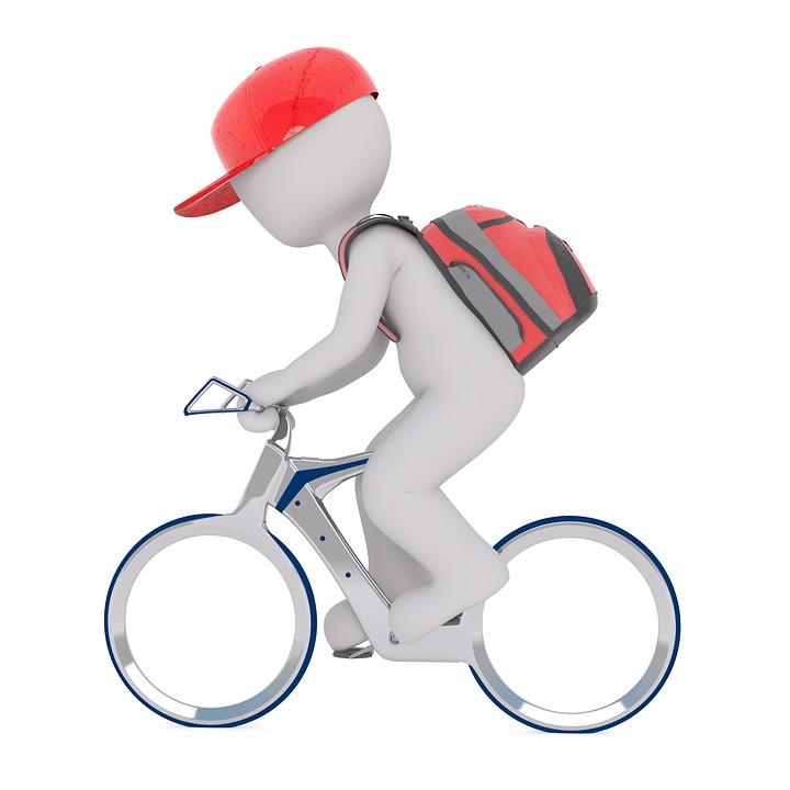 Zustellungen per Fahrrad
