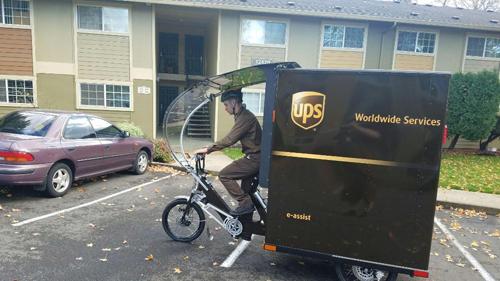 UPS eBikes in Portland