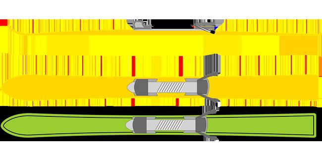 Maße von Skiern